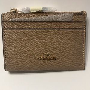 Coach Slim card wallet with keychain.